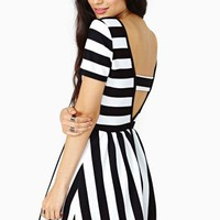 Shadow Lines Skater Dress
