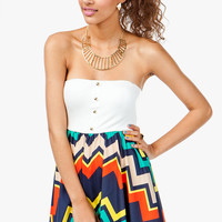A'GACI Multi ZigZag Flare Tube Dress - DRESSES