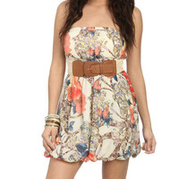 Chiffon Bubble Tube Dress - Teen Clothing by Wet Seal