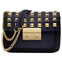 MICHAEL Michael Kors Handbag, Sloan Stud Small Shoulder Bag - All Handbags - Handbags & Accessories - Macy's
