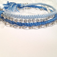 Braid Chain & Sparkle Winter bracelet by BaraahDesigns on Etsy