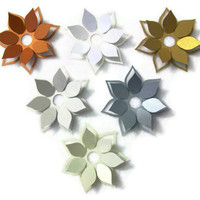 3D Lotus Flower Metallic Cardstock Die Cut by CocoSkyMemos