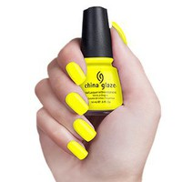 China Glaze Yellow Polka Dot Bikini 80948 Nail Polish: Beauty