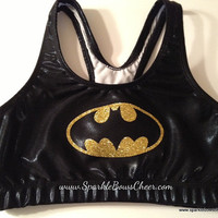 Batty  Metallic Sports Bra Cheerleading por SparkleBowsCheer