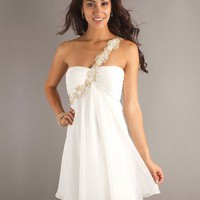 White Chiffon Cocktail Dress