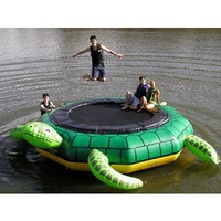 Island Hopper Turtle Jump 15 Foot Water Trampoline 2012: Toys & Games