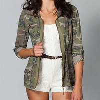 ASHLEY Camo Womens Anorak Jacket