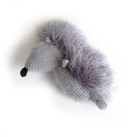 Hedgehog Crochet toy Rock soft gray woodland creatures