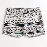 Bullhead High Rise Print Fray Shorts at PacSun.com