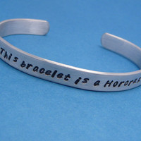 Harry Potter Inspired - This Bracelet Is A Horcrux - A Hand Stamped Aluminum Bracelet