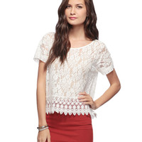 Crochet Trim Lace Top | FOREVER21 - 2008585589