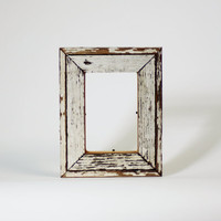 White Reclaimed Wood Picture Frame Perfect by restorationharbor