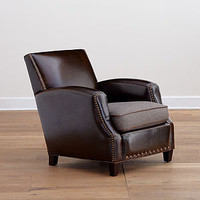 Warren Bi-Cast Leather & Fabric Chair