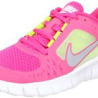 Nike Free Run 3 (GS) Big Kids Running Shoes 512098-600: Shoes