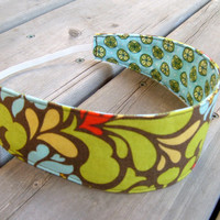 Women Reversible Fabric Headband  Heather by mylittlepoppyseed