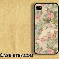 IPHONE CASE iPhone 5 Case iPhone 4 case Samsung Galaxy S3 Case Vintage Rose