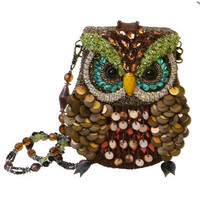 MARY FRANCES 1920&#x27;s Style Night Owl Beaded Handbag