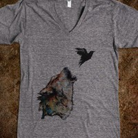 The Bird and the Wolf - Kenzie Rain's Designs - Skreened T-shirts, Organic Shirts, Hoodies, Kids Tees, Baby One-Pieces and Tote Bags