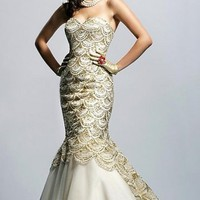 Mermaid White Prom Dress 2012