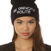 BOTB by Hellz Bellz The Polite Beanie in Black : Karmaloop.com - Global Concrete Culture