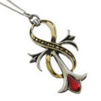 STARLINKS ANKH OF IMMORTAL INFINITY Two-Tone Pendant Eternal Life