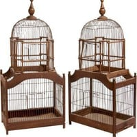 One Kings Lane - Lillian August - Vintage Birdcages, Pair