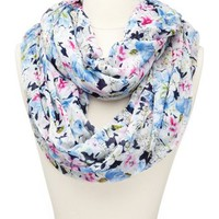 Sketched Floral Infinity Scarf: Charlotte Russe