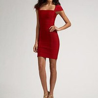 Herve Leger Cap Sleeve Evening Dress - &amp;#36;222.00
