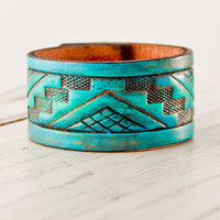 Turquoise Jewelry Bracelet Cuff Tribal Native by rainwheel on Etsy