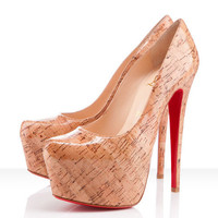 Christian Louboutin Daffodile 160mm Cork Pumps Naturale