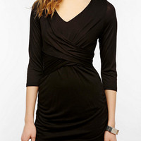 Sparkle & Fade Knit 3/4 Sleeve Ruched Dress