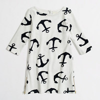 Factory girls&#x27; anchor boatneck dress