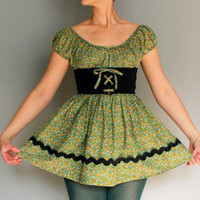 $42.00 vintage 1960&#x27;s bohemian corset mini dress xs by mydrawingnumberone