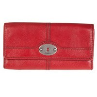 Amazon.com: Fossil Women's Vintage Red Trifold Clutch Wallet: Clothing
