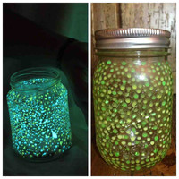 Small iGlow Jar Neon Green and Yellow