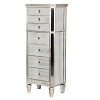 Cherbourg Antiqued Glass Slim Tallboy - Sweetpea & Willow London