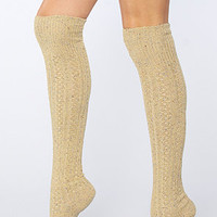 Free People The Speckled Spun Over the Knee Socks in Natural : Karmaloop.com - Global Concrete Culture