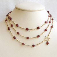 Sumptuous Garnets and Gold Necklace