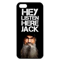 Duck Dynasty Hey Listen Here Jack SI Iphone 4 4S case cover