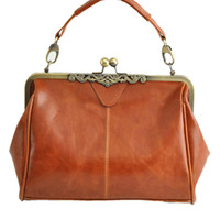 Vintage Kisslock Closure Shoulder Bag - OASAP.com