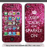 Keep calm and sparkle on skin  for IPhone 4 4s and by Heyiamcase
