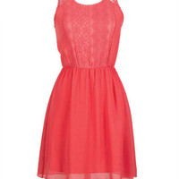 Coral Lace Dress