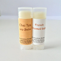 Chai Tea & French Pressed Coffee Vegan Lip Balms, Cafe Lips, Chapstick