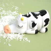 Miniature Cow Tabletop Vacuum: Home &amp; Kitchen