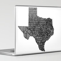 Texas Lines Laptop & iPad Skin by Romi Vega | Society6