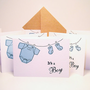 Baby Announcement It&#x27;s a Boy - Baby Shower Invitations -  Baby Greeting Card - Baby Thank You Card