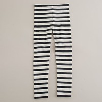 Girls' reverse-stripe leggings - J.Crew