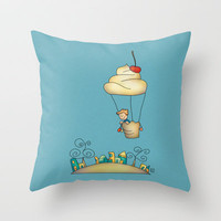 Sweet world Throw Pillow by Carina Povarchik