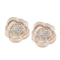 Payless, Women's Flower Pave Stud Earrings, Women's, Accessories