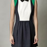 Pauline leather-collar dress | Sea Ny | Matchesfashion.com